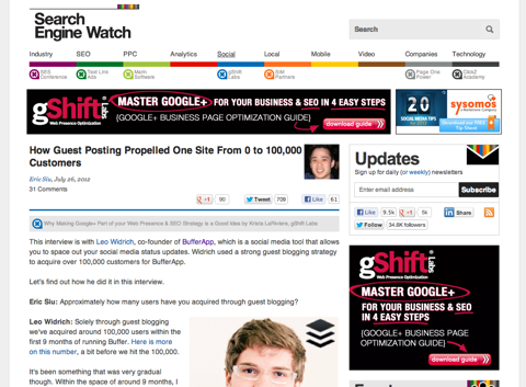 how guest posting propelled one site