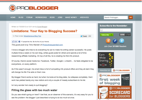 limitations your key to blogging success