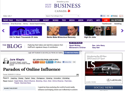 paradox of online influence