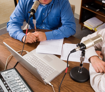 stock photo 3868228 podcasting