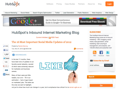 the 16 most important social media updates of 2012