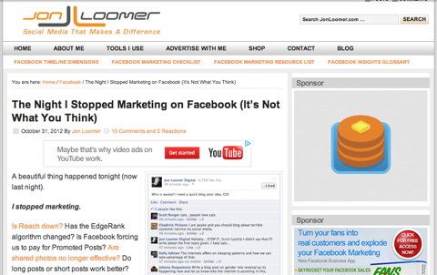 the night i stopped marketing on facebook