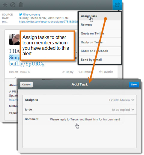 mention assign tasks