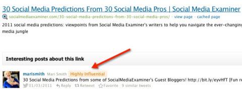 key influencer using topsy