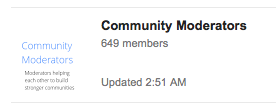 community moderators group