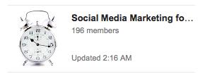 social media marketing business community