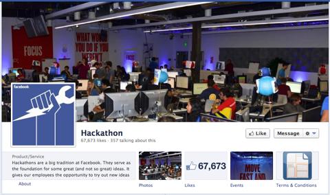 facebook hackathon page