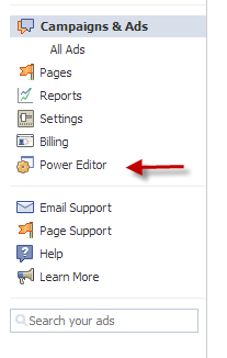 power editor sidebar