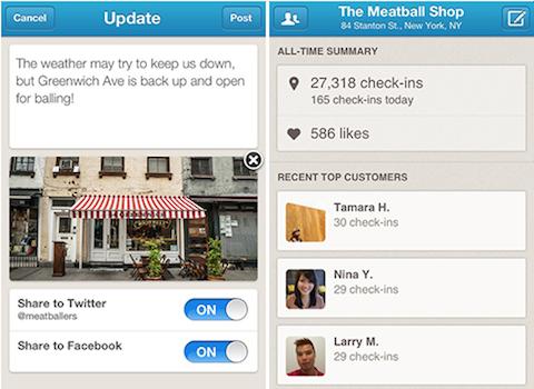 foursquare business app