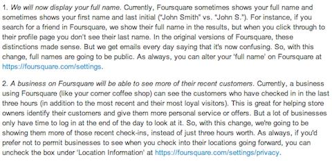 foursquare email