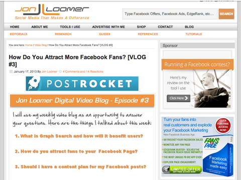 ck jon loomer blog Top 10 Social Media Blogs: The 2013 Winners!   Cindy King