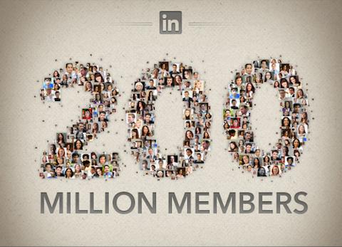 linkedin 200 million