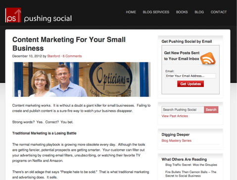 pushing social blog