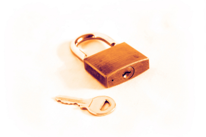 stock photo 199114 golden padlock