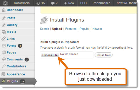 browse plugin