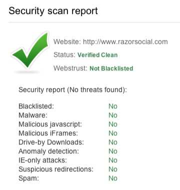 security scan