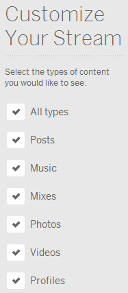 Customize Your Myspace Stream