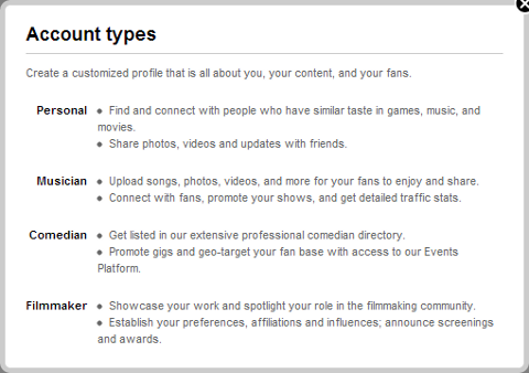 New Myspace Profile Roles