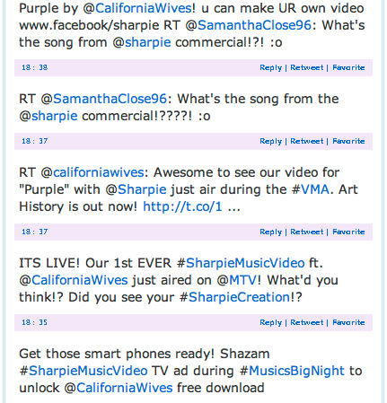 sharpie engages with fans