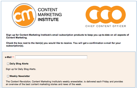 cmi email subscriptions