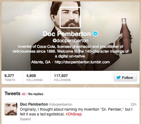 doc pemberton twitter