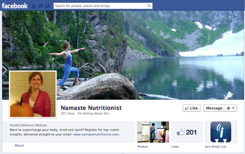 namaste nutritionist facebook