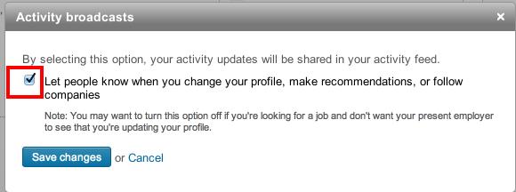 adjust profile settings