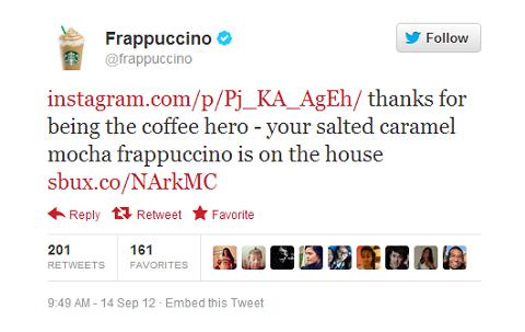 frappuccino instagram tweet