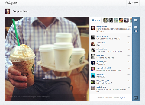 frappuccino instagram
