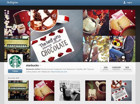 starbucks instagram web profile