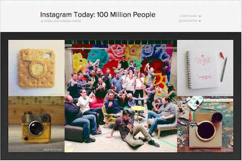 instagram 100 million