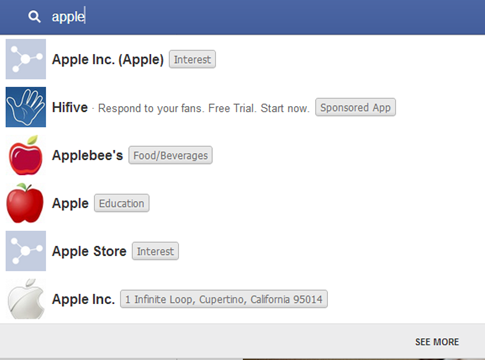 graph search for apple