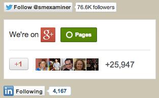 Social Follow Buttons in Blog Sidebar