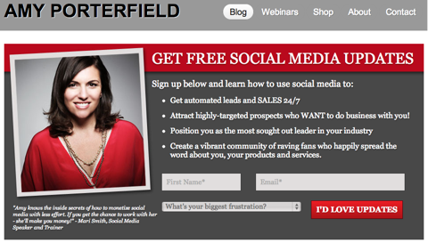 amy porterfield email subscription