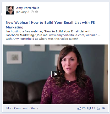 amy porterfield facebook webinar ad