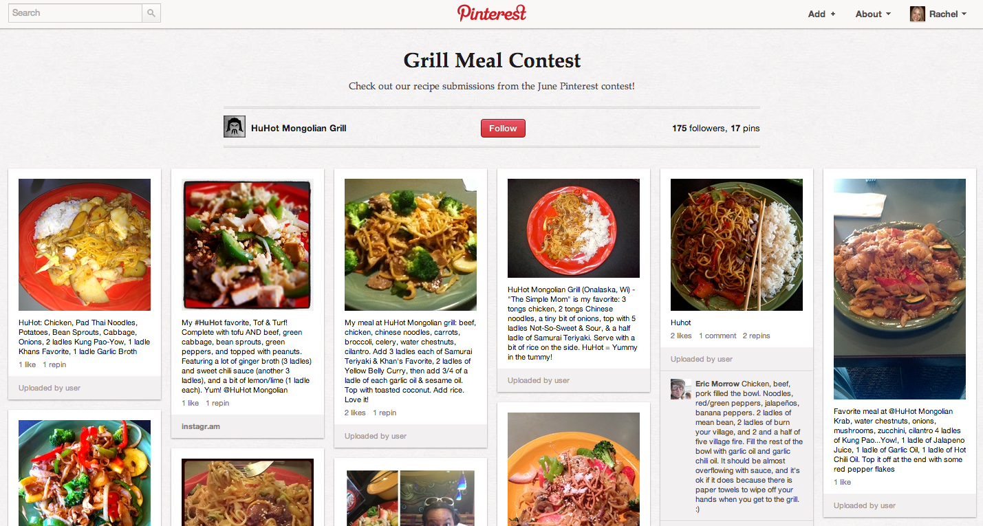 huhot pinterest board