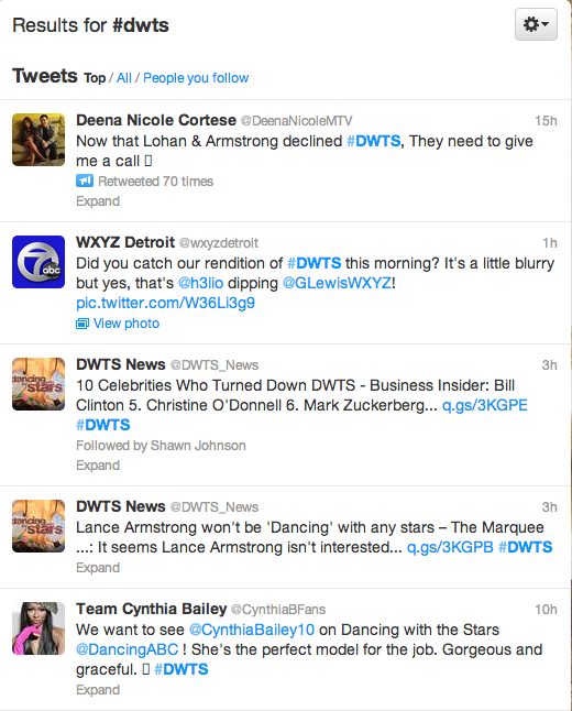 search results #dwts