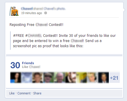 Verletzung des Facebook-Wettbewerbs