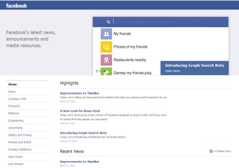 facebook news room