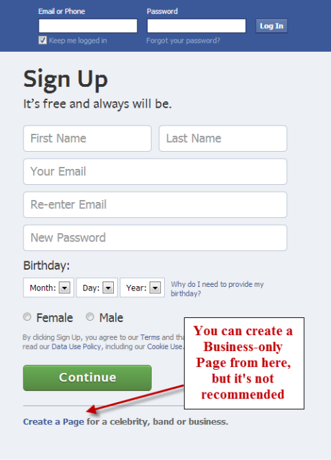 How to set up a facebook page for business social media Where can i make a website