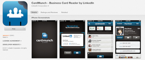 26 mobile apps to improve your business and networking social turns your business cards into contacts now with linkedin integration reheart Gallery