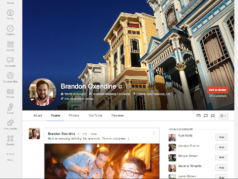 google+ profile cover photo
