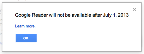 google reader retires