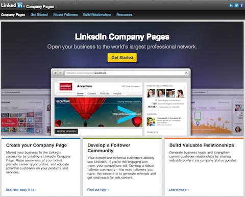 linkedin company page site