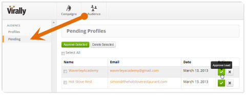 pending profiles