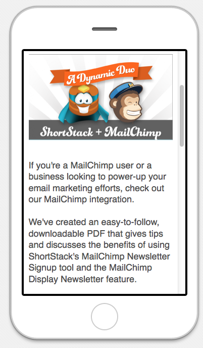 MailChimp mobile marketing
