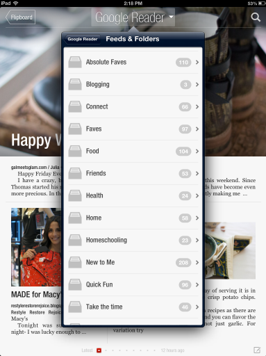 Google Reader on Flipboard