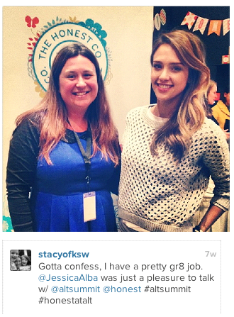 Stacy Teet and Jessica Alba