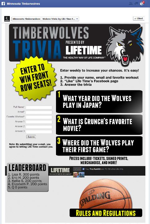 trivia tab promotion