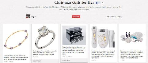 Christmas gifts for her Argos board
